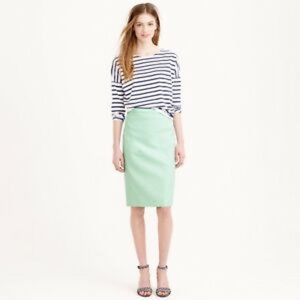 NWT Jcrew Mint Green Pencil Skirt - Size 4